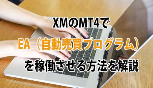 XMのMT4でEA(自動売買プログラム)を稼働させる方法を解説