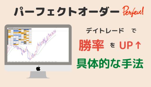 FXのパーフェクト・オーダーとマルチタイムフレーム分析で勝率を上げる具体的なトレード手法